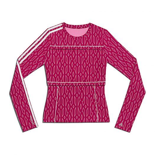 adidas Ivy Park Snap Monogram Top (Plus Size) Bold Pink