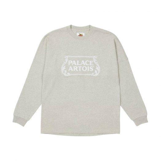 Palace Stella Artois Drop Shoulder Longsleeve Grey Marl