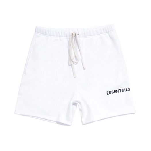 FEAR OF GOD Essentials Graphic Sweat Shorts White