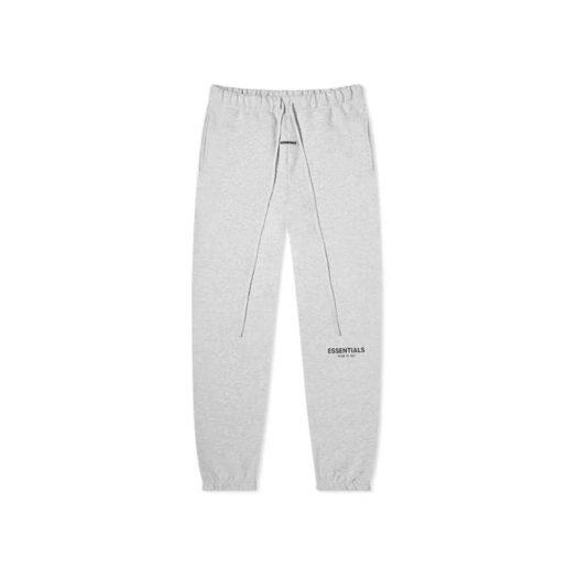 Fear Of God Essentials Sweatpants Light Heather Grey/black