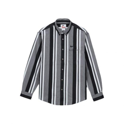 Supreme Nike Cotton Twill Shirt Black Stripe