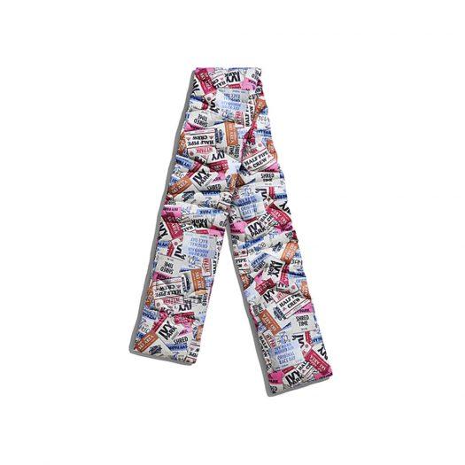 adidas Ivy Park Ski Tag Allover Print Padded Scarf Multicolor