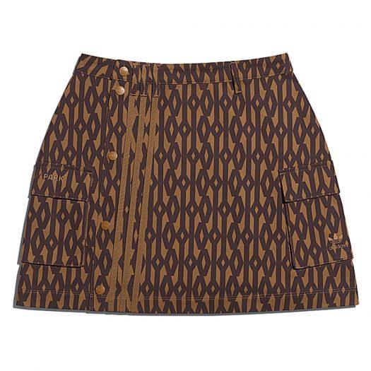 adidas Ivy Park Monogram Skirt Wild Brown/Night Red