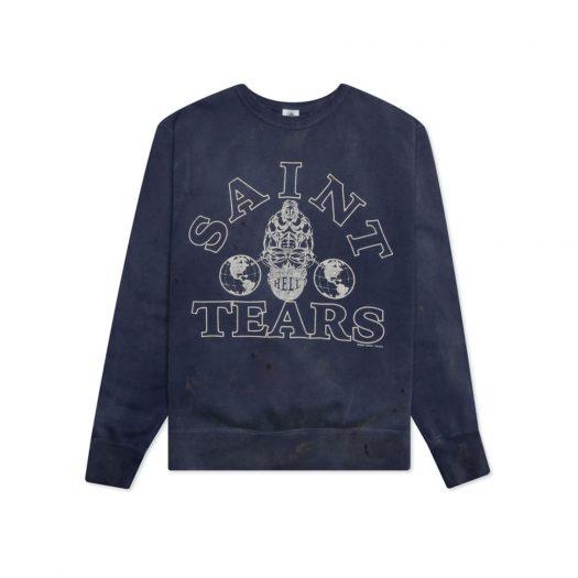 Saint Michael x Denim Tears Crewneck Sweatshirt Navy