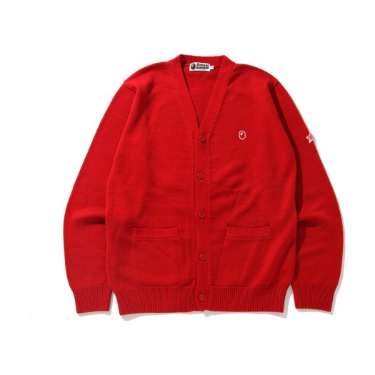 Bape X Kid Cudi Cardigan Red