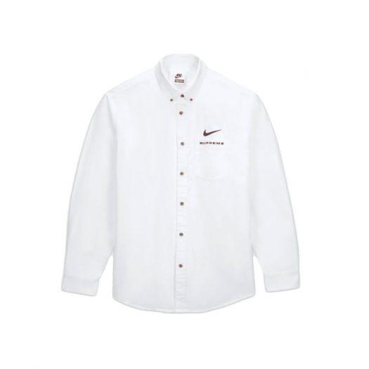 Supreme Nike Cotton Twill Shirt White