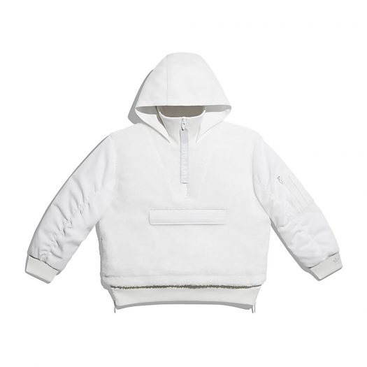 adidas Ivy Park 1/2 Zip Sherpa Layered Jacket (All Gender) Core White
