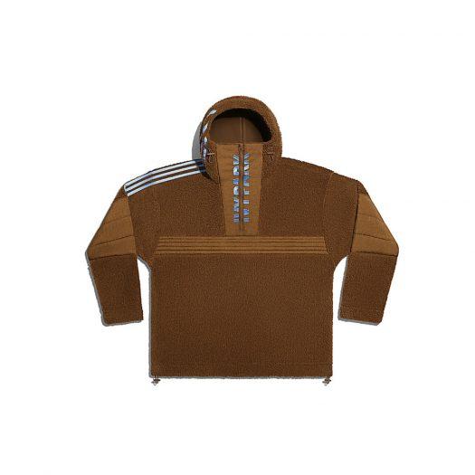 adidas Ivy Park 1/2 Zip Branded Teddy Jacket (All Gender) Wild Brown
