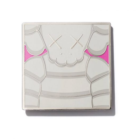KAWS Brooklyn Museum WHAT PARTY Square Pin Grey