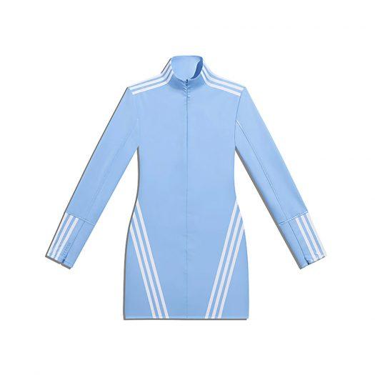 adidas Ivy Park 1/2 Zip Latex Dress (Plus Size) Light Blue/White