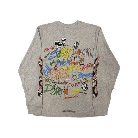 Chrome Hearts Matty Boy Brain L/S T-Shirt Heather Grey