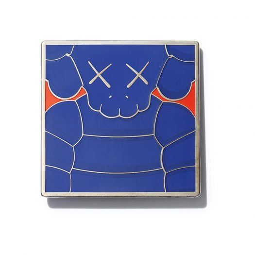KAWS Brooklyn Museum WHAT PARTY Square Pin Blue