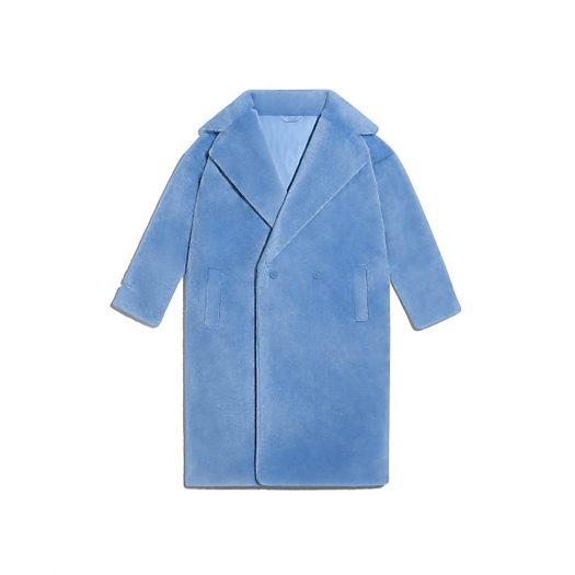 adidas Ivy Park Faux Fur Coat (All Gender) Light Blue