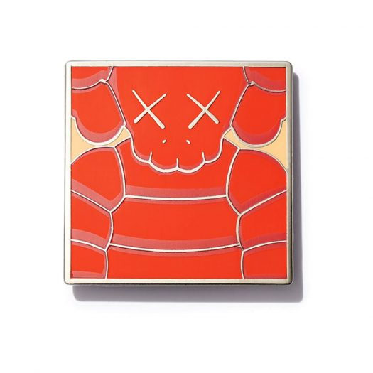 KAWS Brooklyn Museum WHAT PARTY Square Pin Orange