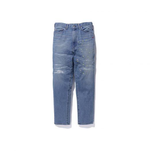 Bape X Kid Cudi Damaged Denim Pants Light Wash
