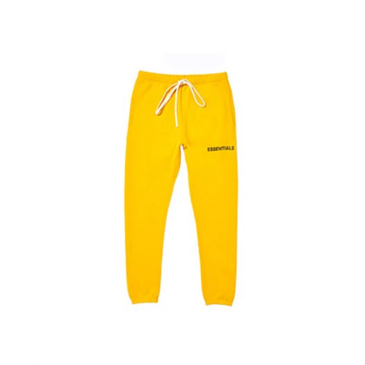 FEAR OF GOD Essentials Graphic Sweatpants Yellow