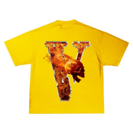 Juice Wrld x Vlone Inferno Tee Yellow