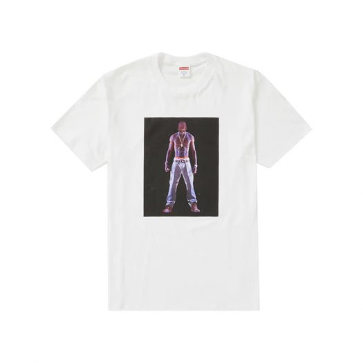 Supreme Tupac Hologram Tee White