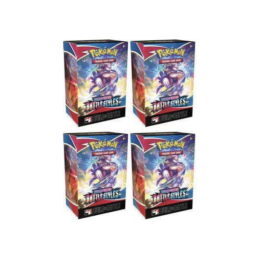 2021 Pokemon TCG Sword & Shield Battle Styles Build & Battle Box 4x Lot