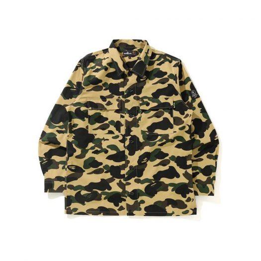 Bape 1st Camo Military Shirt Shirt Yellow