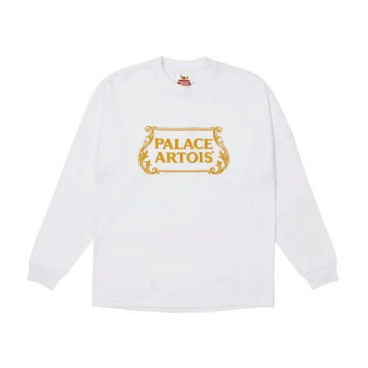 Palace Stella Artois Drop Shoulder Longsleeve White
