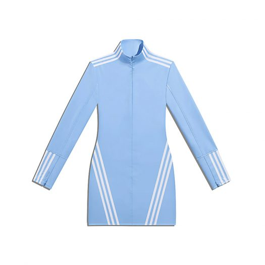 adidas Ivy Park 1/2 Zip Latex Dress Light Blue/White
