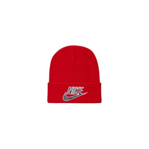 Supreme Nike Snakeskin Beanie Red