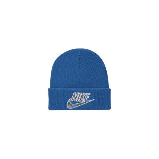 Supreme Nike Snakeskin Beanie Blue