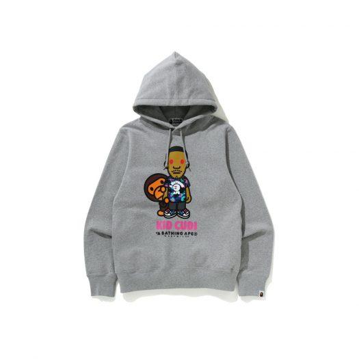 Bape X Kid Cudi Baby Milo Pullover Hoodie Gray