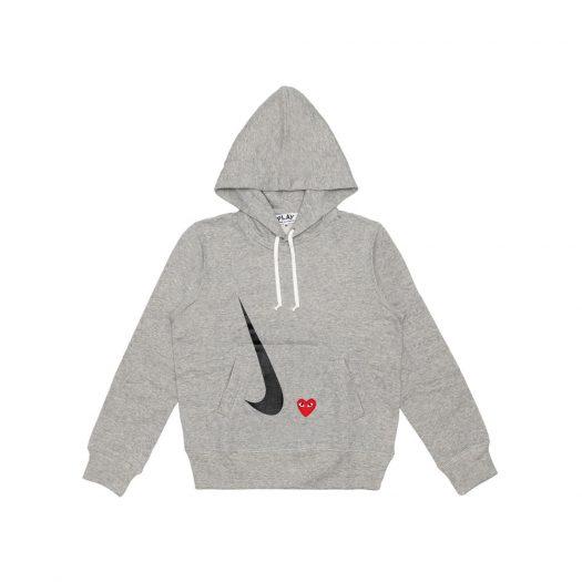 CDG Play x Nike Hoodie Grey