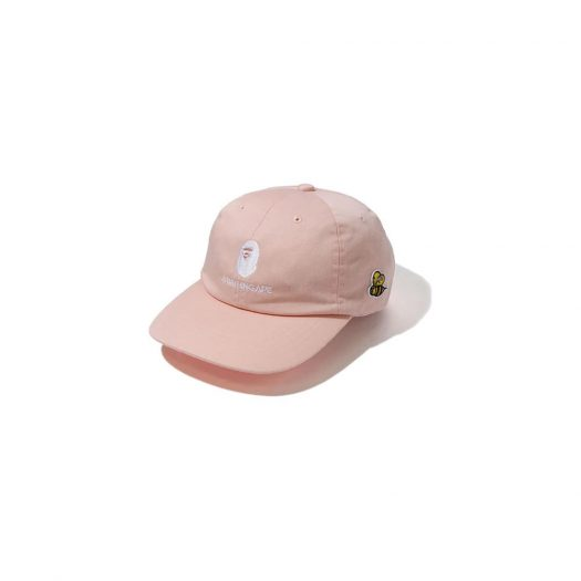 Bape Busy Works Panel Cap Pink