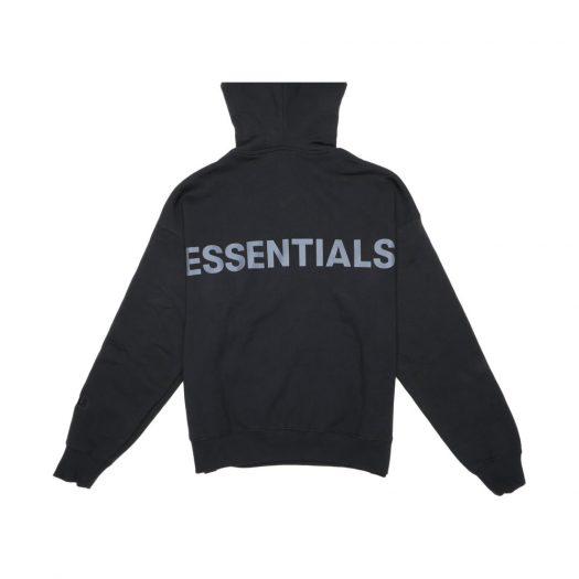 Fear Of God Essentials 3m Logo Pullover Hoodie Black/black