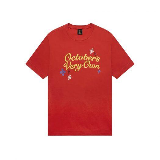 OVO Pompom Script T-Shirt Red