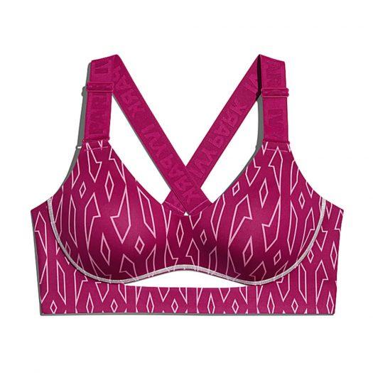 adidas Ivy Park Medium-Support Monogram Cutout Bra (Plus Size) Bold Pink