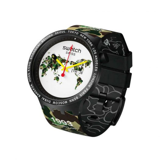 Swatch x Bape Big Bold The World Edition S027Z700 - 47mm in Plastic