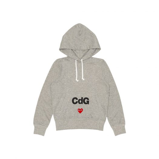 CDG Play Hoodie Topgray