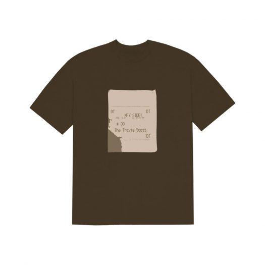 Travis Scott x CPFM 4 CJ Grill Slip T-Shirt Brown