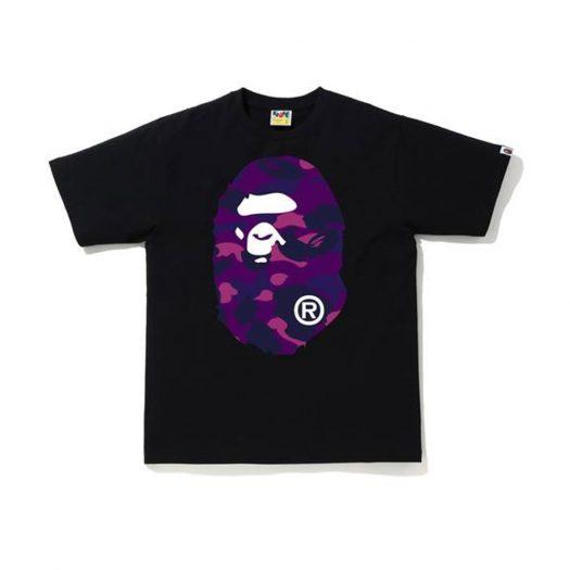 Bape Color Camo Big Ape Head T-shirt (Ss20) Black/purple