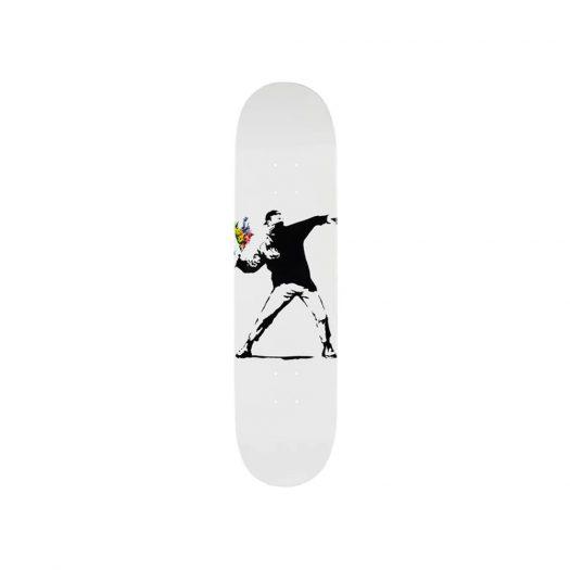 Banksy x Medicom Flower Bomber I Skateboard Deck White