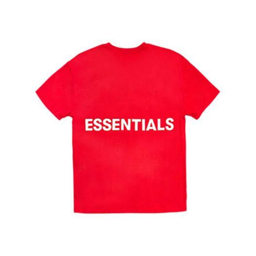 FEAR OF GOD Essentials Boxy Graphic T-Shirt Red
