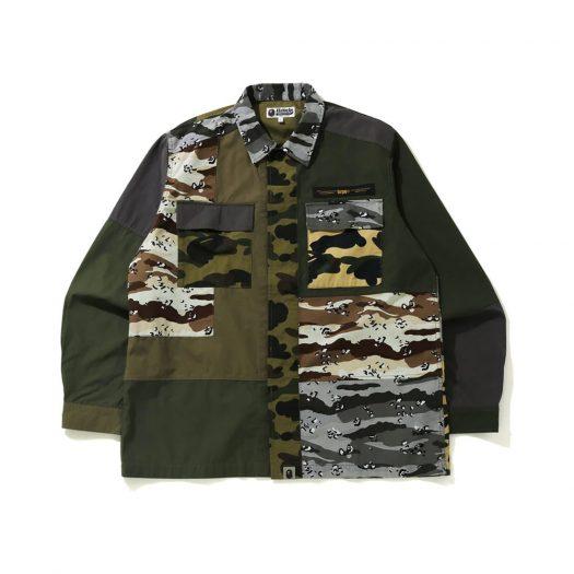 Bape Crazy Camo Relaxed Military Shirt Multi