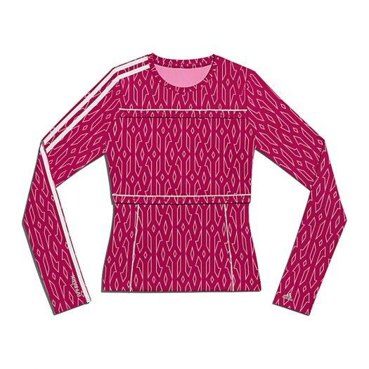 adidas Ivy Park Snap Monogram Top Bold Pink