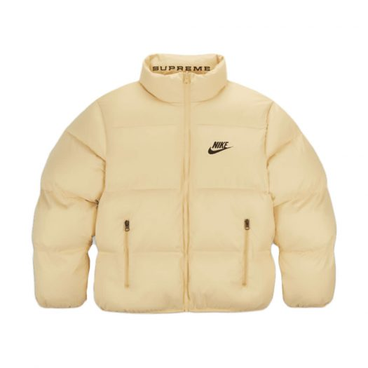 Supreme Nike Reversible Puffy Jacket Pale Yellow