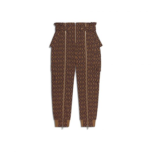 adidas Ivy Park Monogram Zipper Pants Wild Brown/Night Red