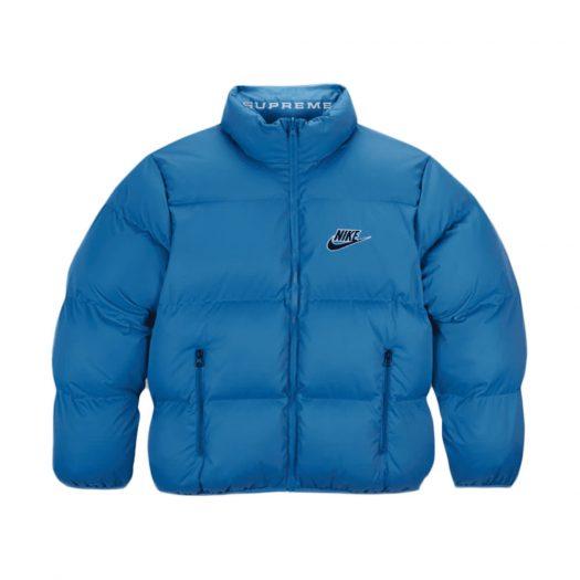 Supreme Nike Reversible Puffy Jacket Blue
