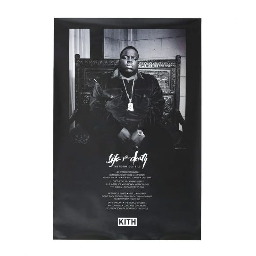 Kith The Notorious B.I.G Life After Death Poster Black