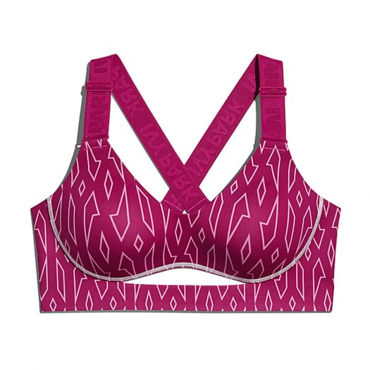 adidas Ivy Park Medium-Support Monogram Cutout Bra Bold Pink