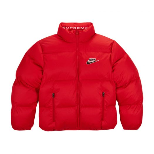 Supreme Nike Reversible Puffy Jacket Red