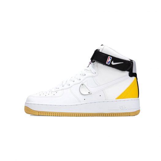 Nike Air Force 1 High NBA White University Gold