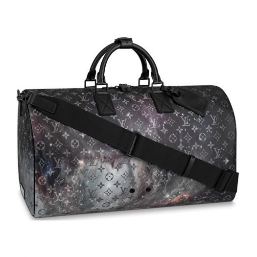 Louis Vuitton Keepall Bandouliere Monogram Galaxy 50 Black Multicolor in Coated Canvas with Black-tone